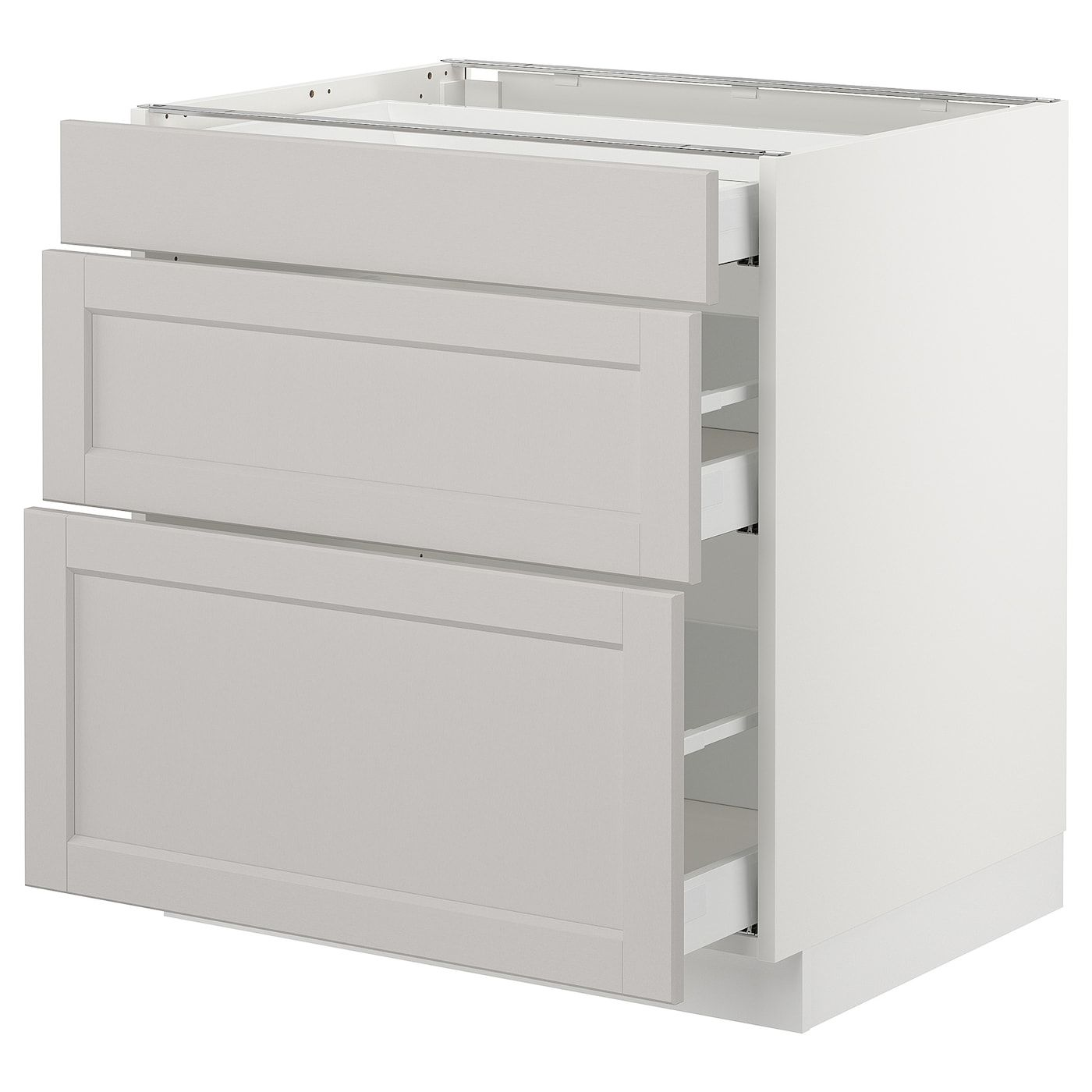 Sektion Base Cabinet With 3 Drawers White Maximera Lerhyttan Light Gray 30x24x30 Ikea In 2020 Base Cabinets Kitchen Cabinets Fronts Cabinet Fronts