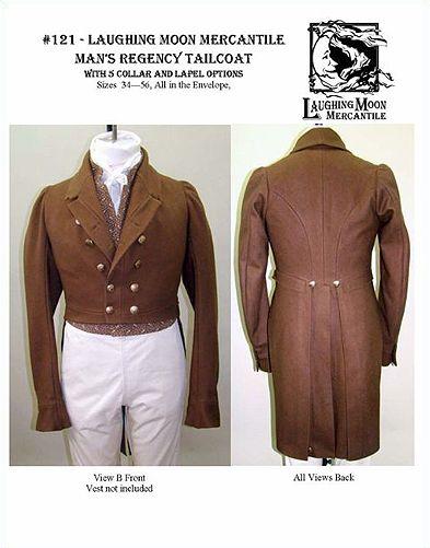 Schnittmuster: 1810-30 Frack | regency fashion | Pinterest | Regency ...