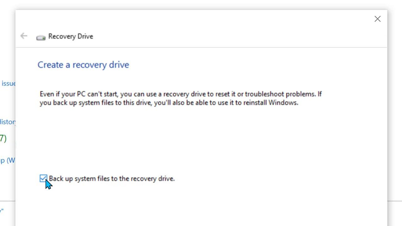 Windows 10 Recovery Usb Download In 2020 Recovery