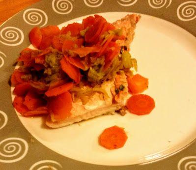 La fantasia in cucina: Salmone con porri e carote alla salsa teryaki ...