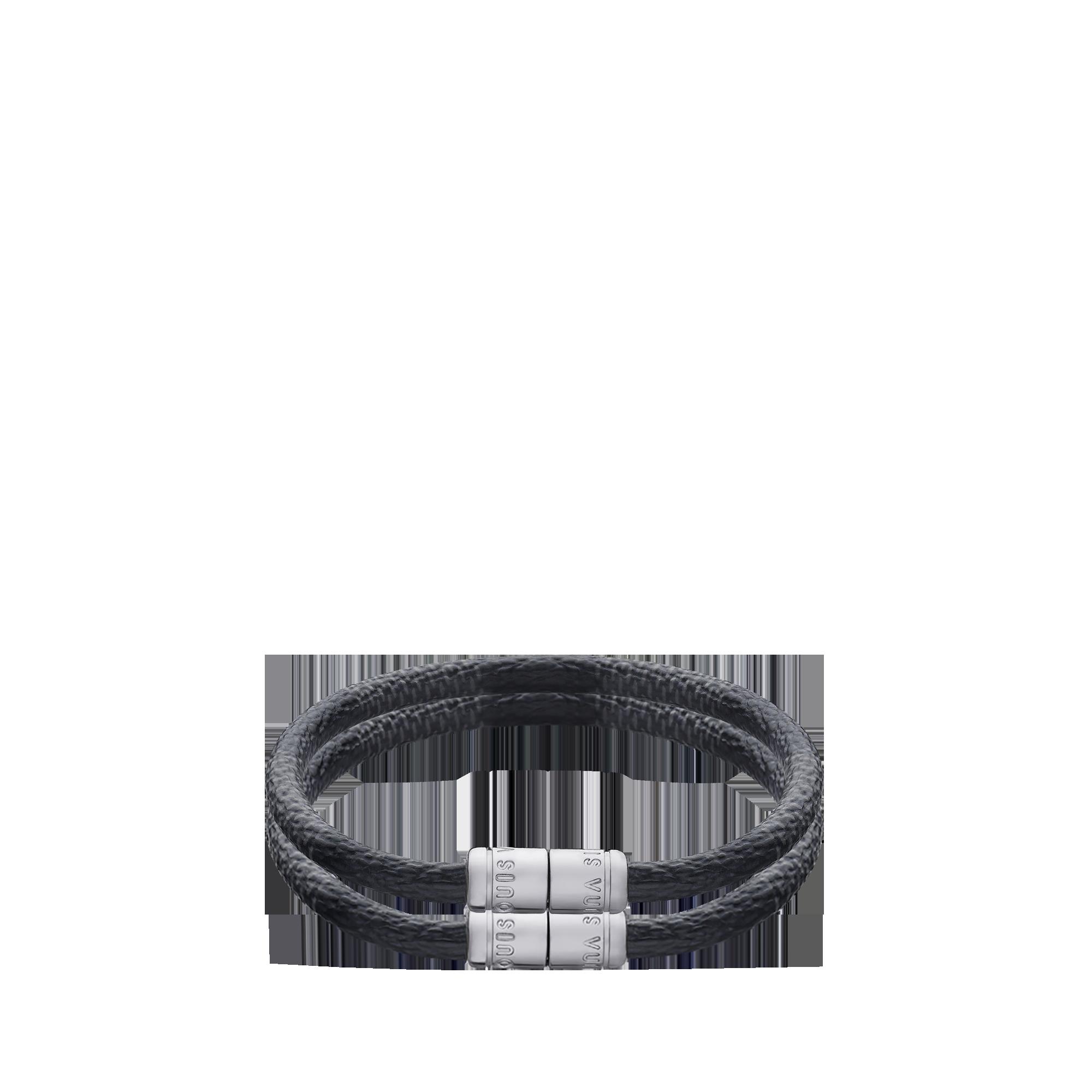 Louis Vuitton Bracelet For Men Check It Damier Graphite