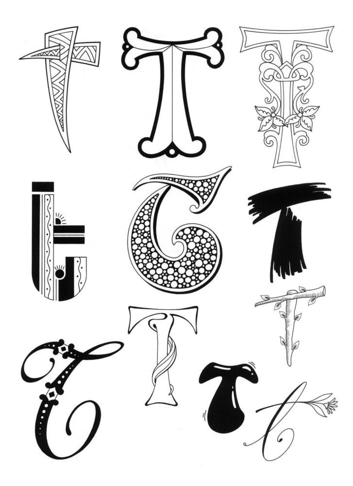 43+ T letter design drawing ideas
