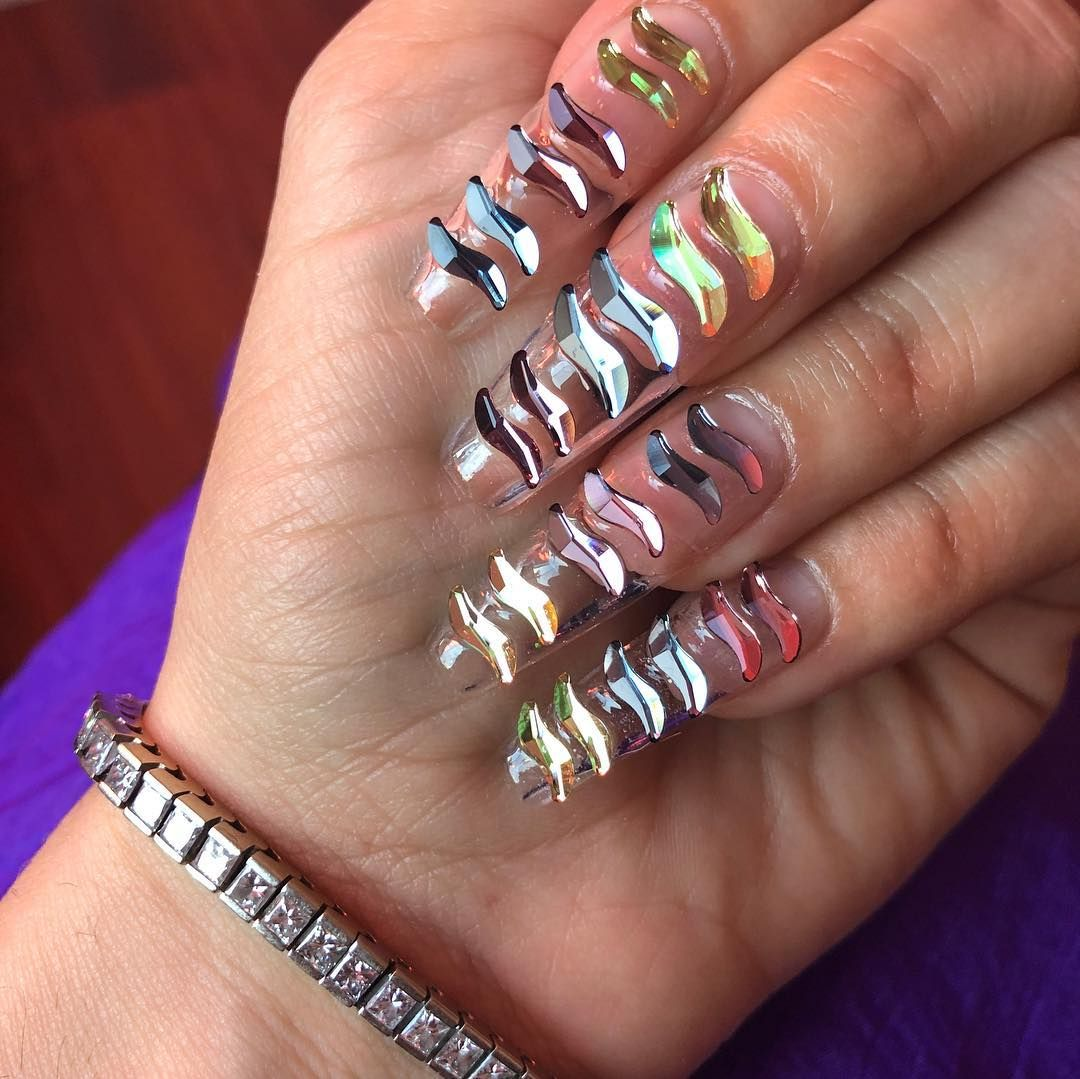 Aquarius Nails I M One Myself Tag Your Favorite Aquarius Aquariusnails Losangeles Losangelesnails Swarovski Swarovski Nails Nails Glam Nails