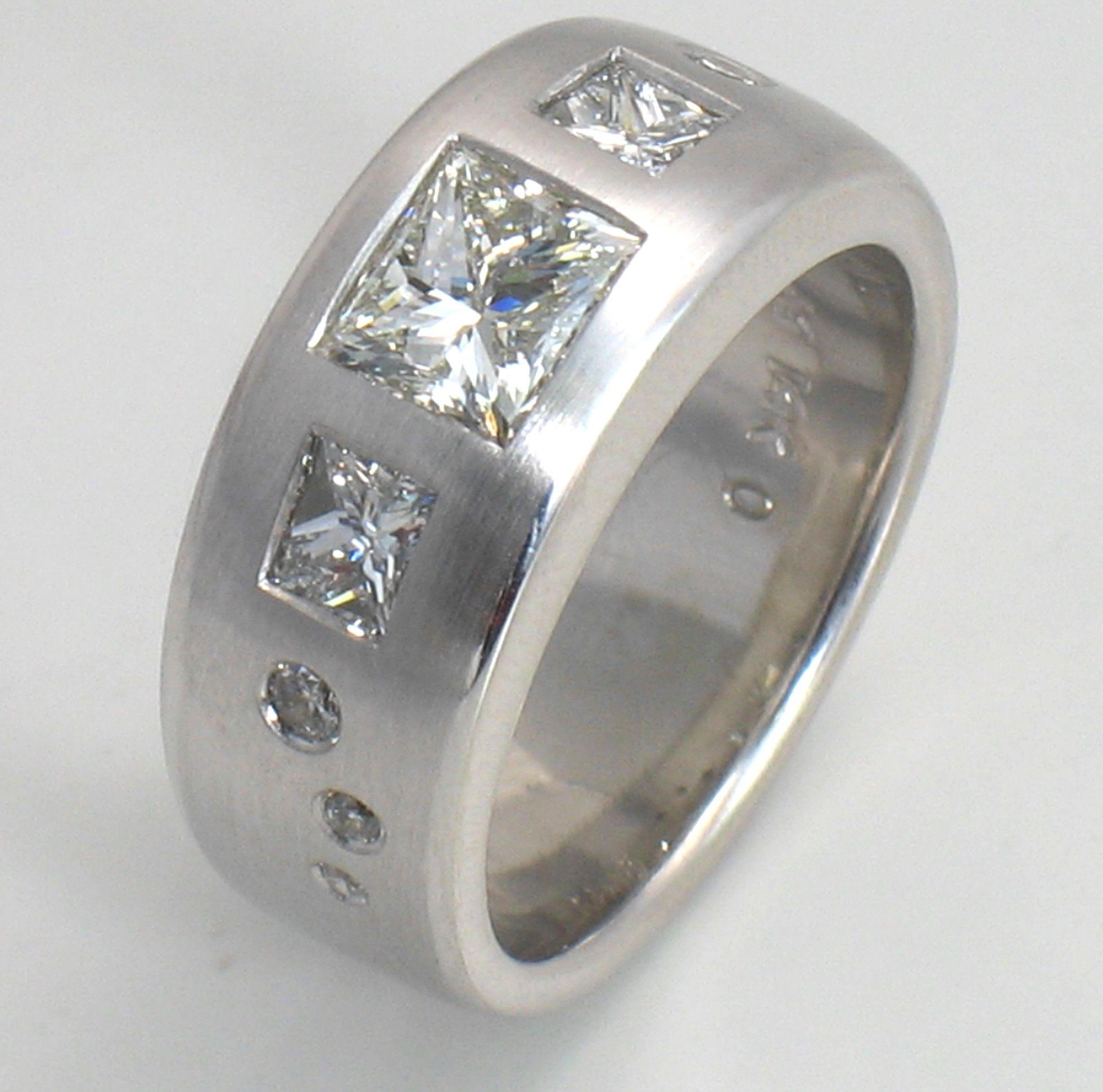Custom Design Flush Set Diamond Ring Jewelry Pinterest