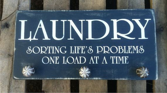 Laundry Sign  Sorting Life's Problems  by ExpressionsWallArt, $35.00