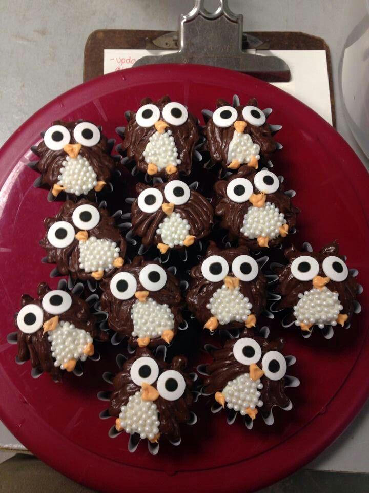Owl Cupcakes Noms Owl Cupcakes Cupcake Cakes