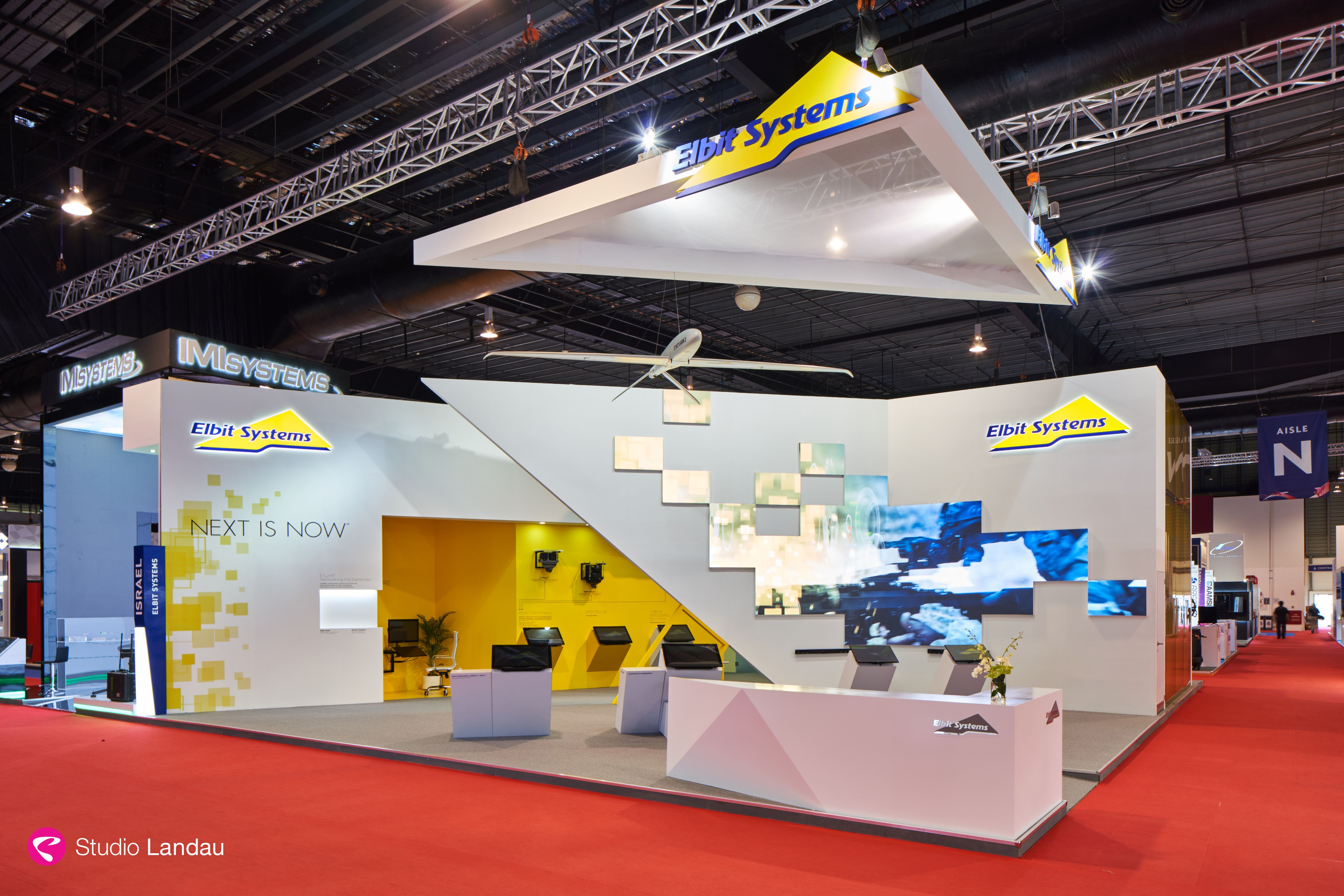 Exhibition Stand Design Singapore : Elbit systems singapore air show