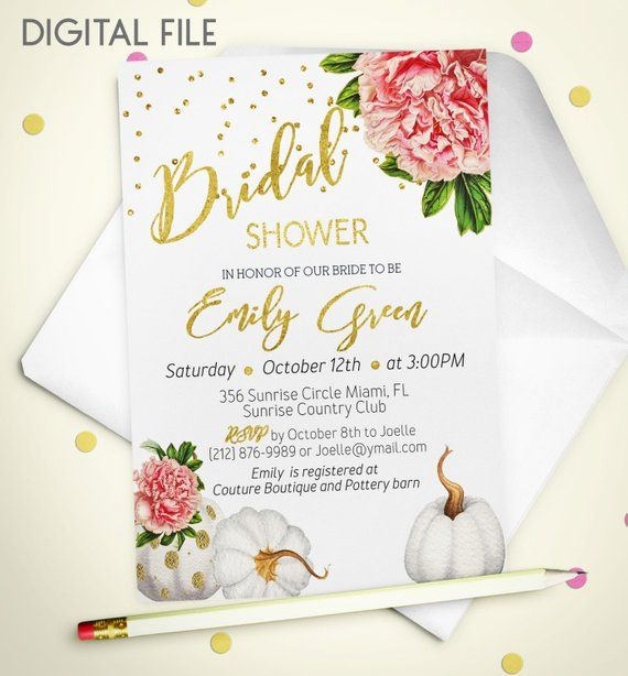 Bridal Shower Invitation Marsala Printable Invite Burgundy Gold Foil