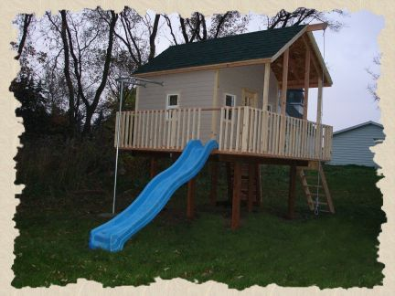 Wood Manor Clubhouse Plans Help You Build A Clubhouse Or Childrens Club  Houses