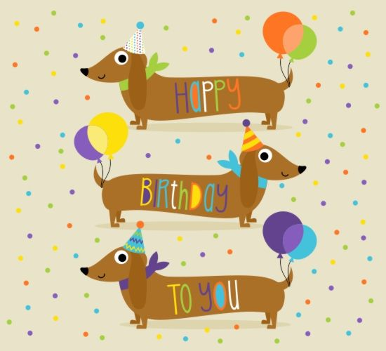 send this cute dachshund birthday card for free to someone special – Dog Birthday Card