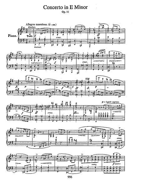 INTERMEDIATE-ADVANCED: Piano concerto no 1, Frederic Chopin