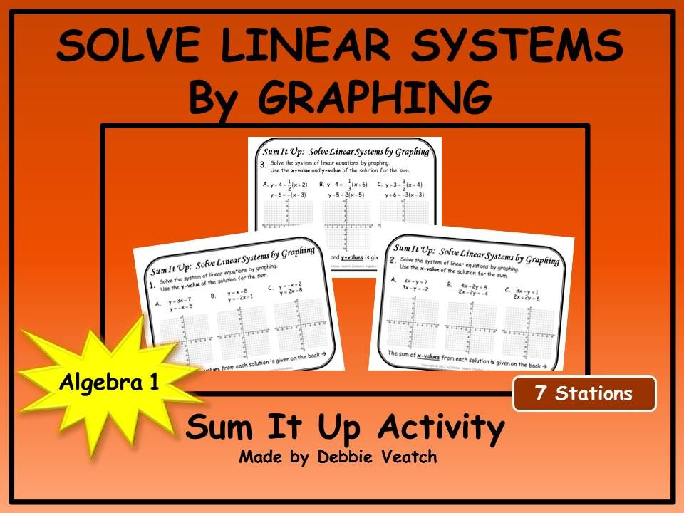Solve Linear Systems By Graphing Sum It Up Activity Standard Form