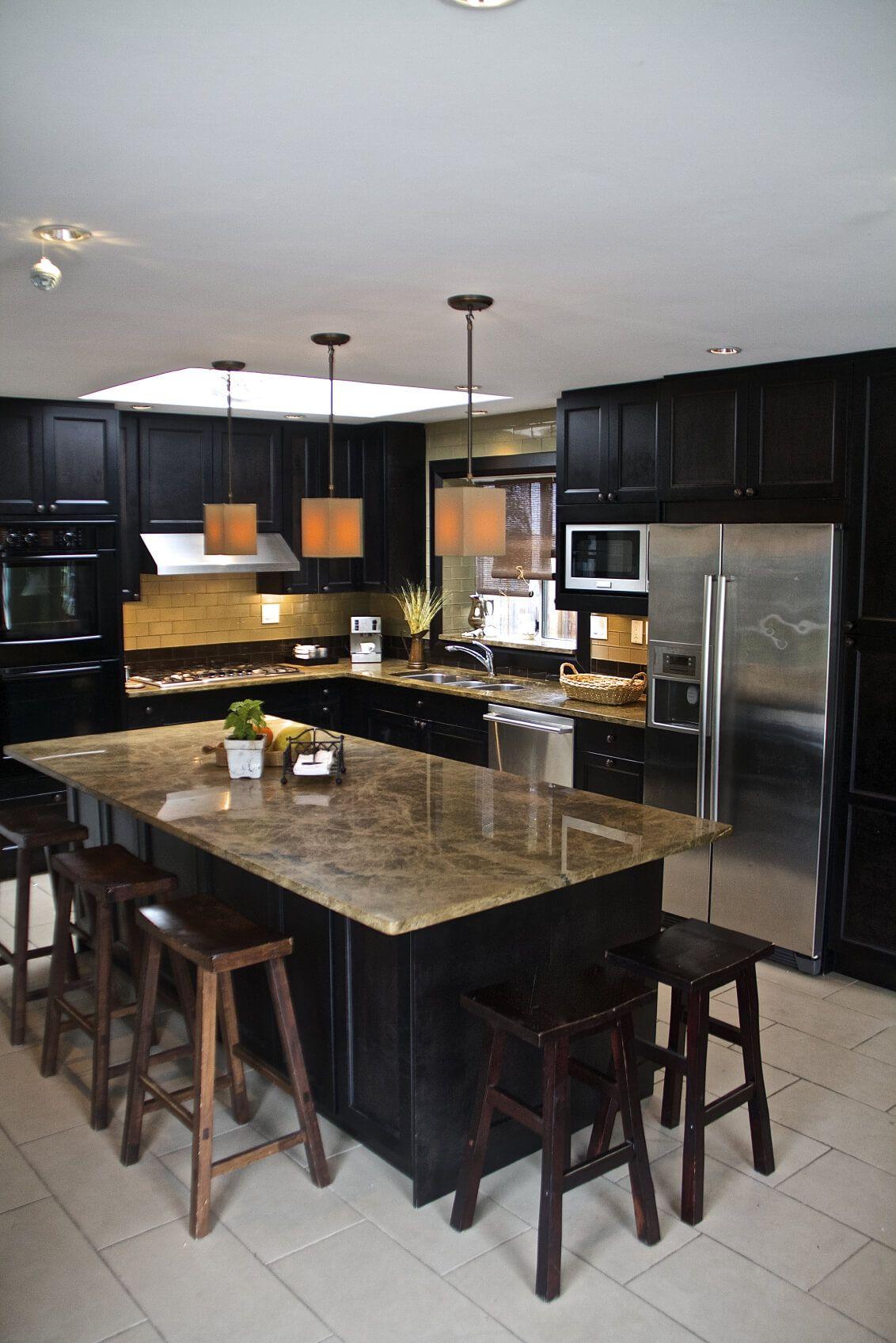 52 dark kitchens with dark wood and black kitchen cabinets | dark