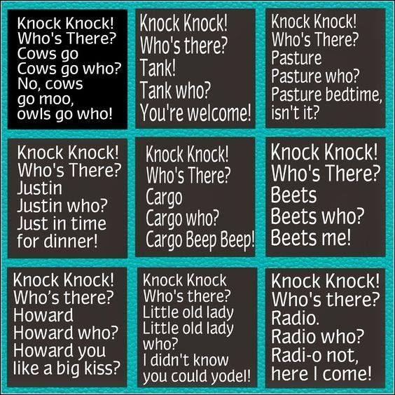 22 Funny Knock Knock Jokes