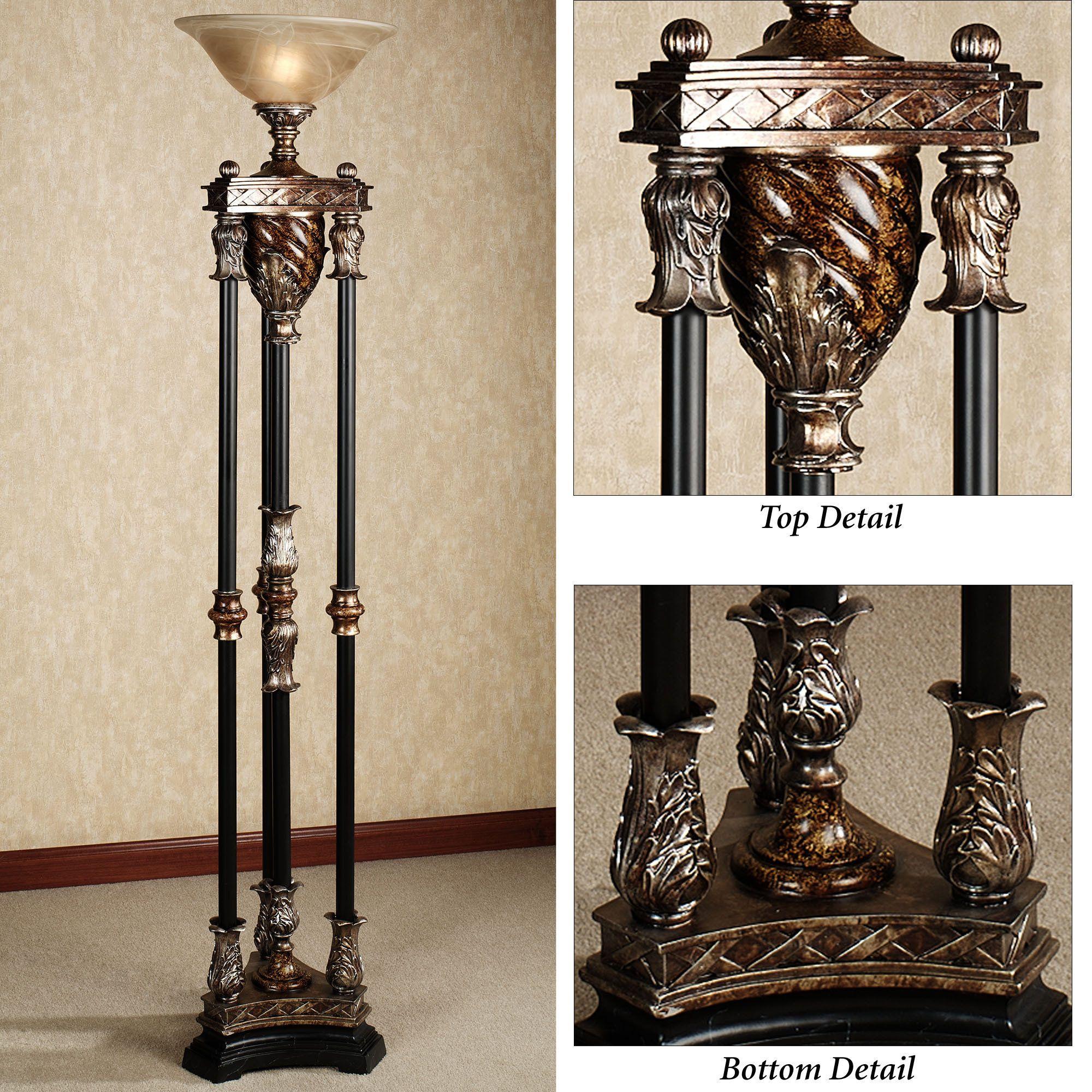 Jalisa Torchiere Floor Lamp Torchiere Floor Lamp Black Floor Lamp Cool Floor Lamps