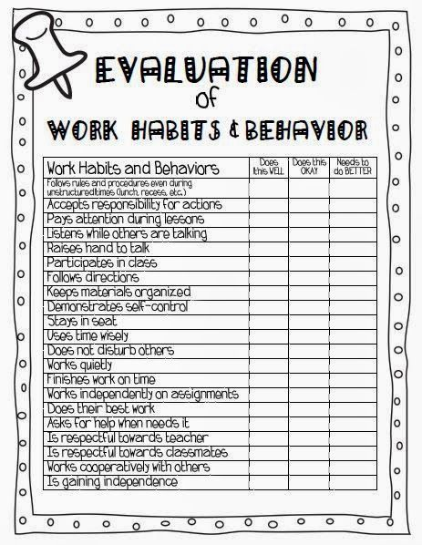 Parent-Teacher Conference Forms from A Teachable Teacherpdf - employee self evaluation forms
