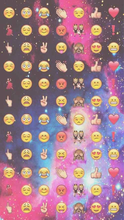 Emoji Wallpaper And Galaxy Image Emoji Backgrounds Emoji Wallpaper Iphone Wallpaper