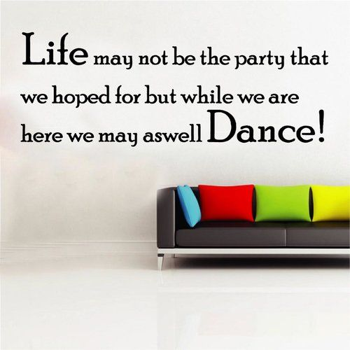 Life May Not Be The Party Decal Wall Sticker Kult Kanvas Size Extra Large Colour Brilliant Blue Wall Stickers Home City Wall Stickers Boys Wall Stickers