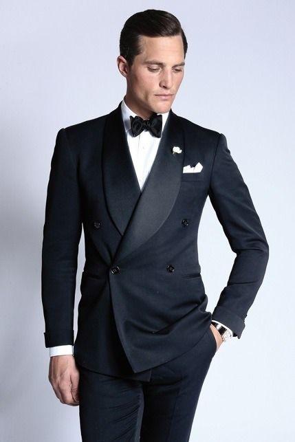 43L NEW 100/% Wool Peak Lapel Double Breasted Tuxedo Jacket Discount Tux Coat