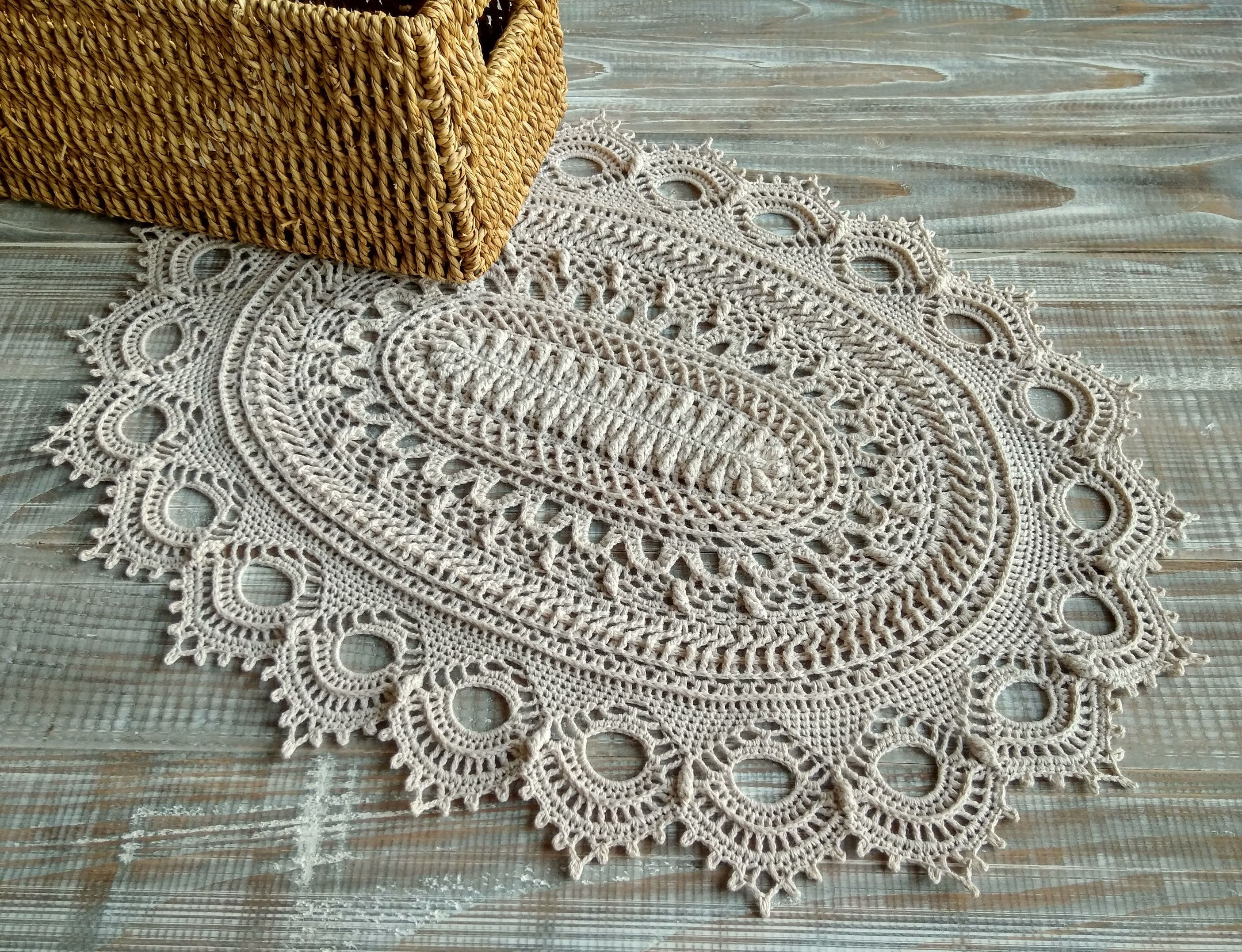 Wabi Sabi Decor Crochet Doily Wedding Decor Doily Oval Doily Lace