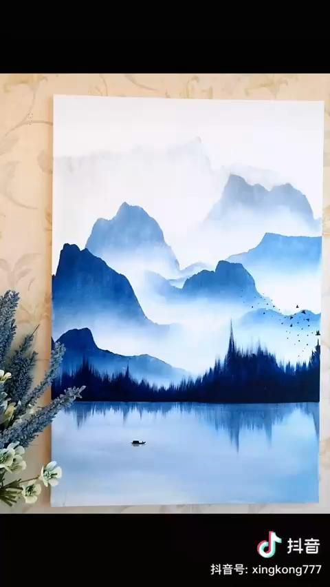 Amazing Painting of Sky and Mountains