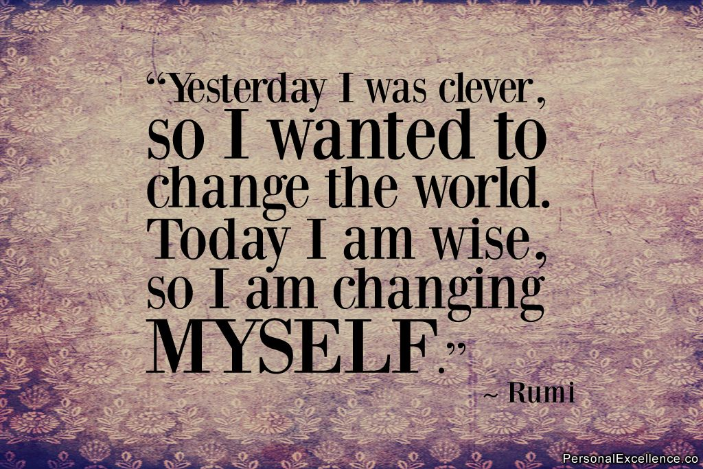 Change Starts Within Personalexcellence Inspiration