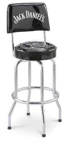 Jack Daniel S Bar Stool With Backrest By Kotulas 99 99 Kick