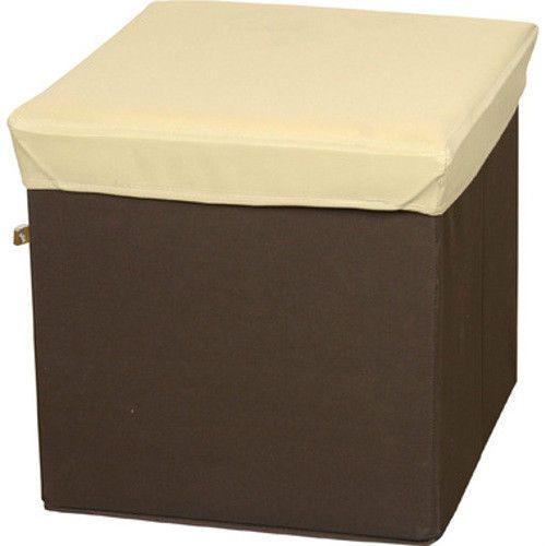 Folding Stool Storage Organizing Box Cube Beige Kids Room BLC 378BE Azumaya  JP