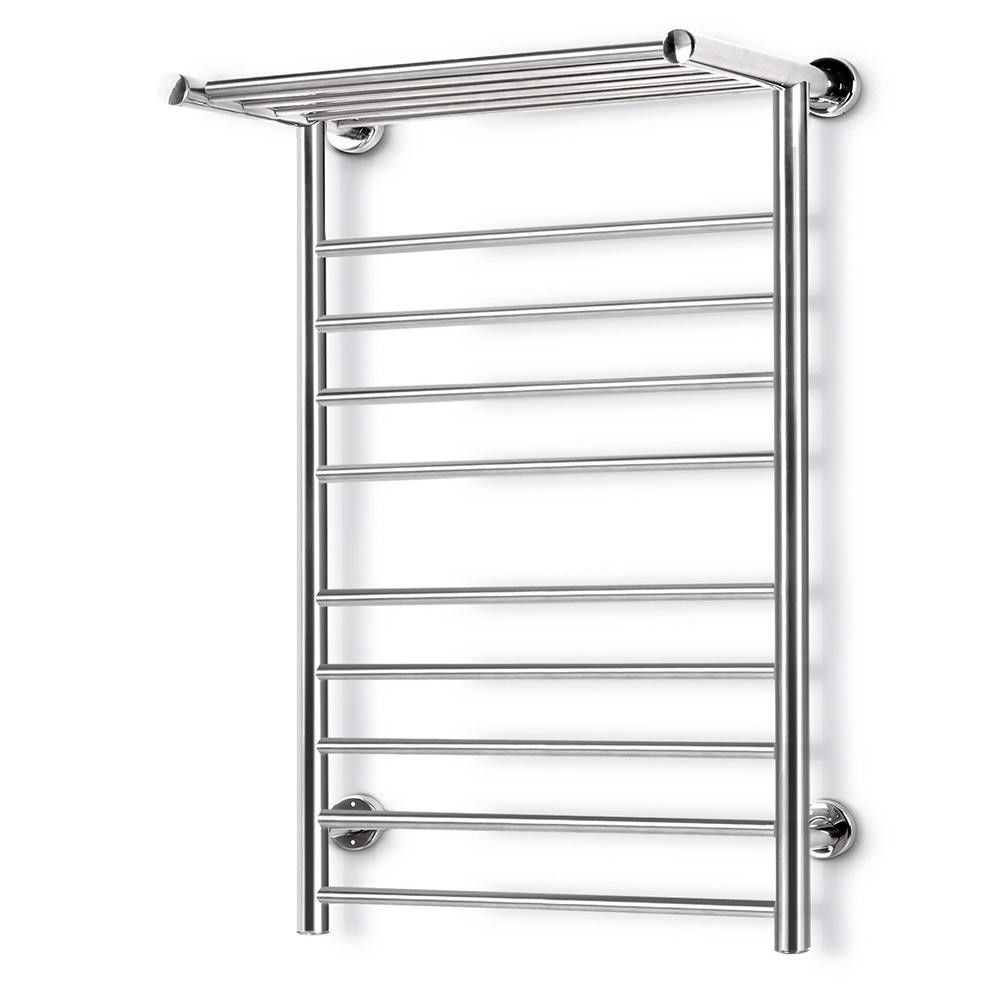 Electric Bathroom Towel Heaters: Stainless Steel Bathroom Electric Heated Ladder Towel