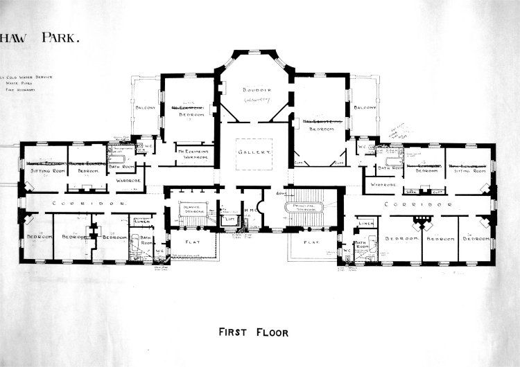 Great Mansion Floor Plans On Floor With Ottershaw Park Architects