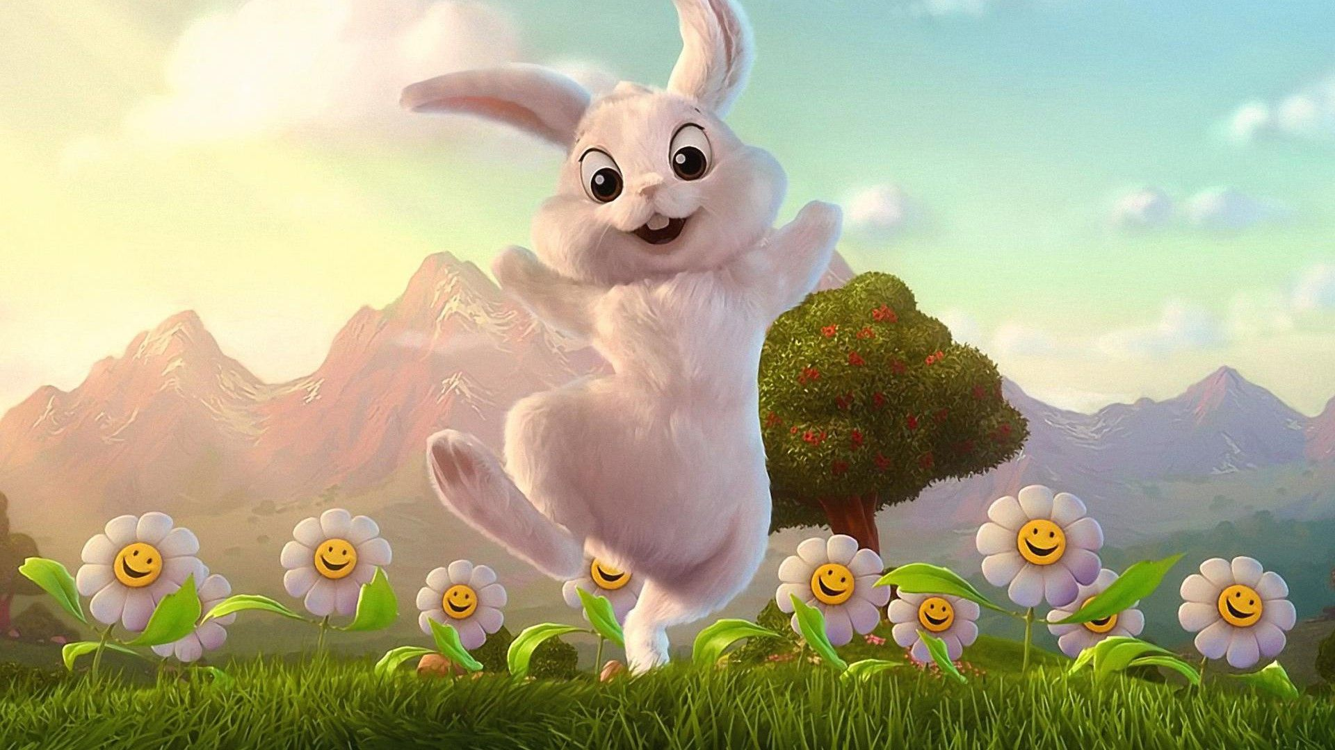Desktop Animated Rabbit Images Download Easter Bunny Pictures