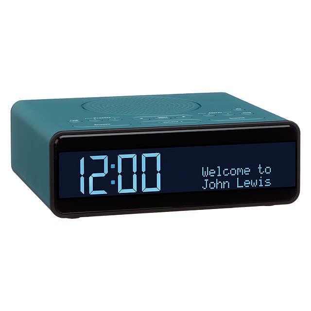 John Lewis Partners Spectrum Clock Dab Dab Fm Digital Radio Black Digital Radio Clock Digital