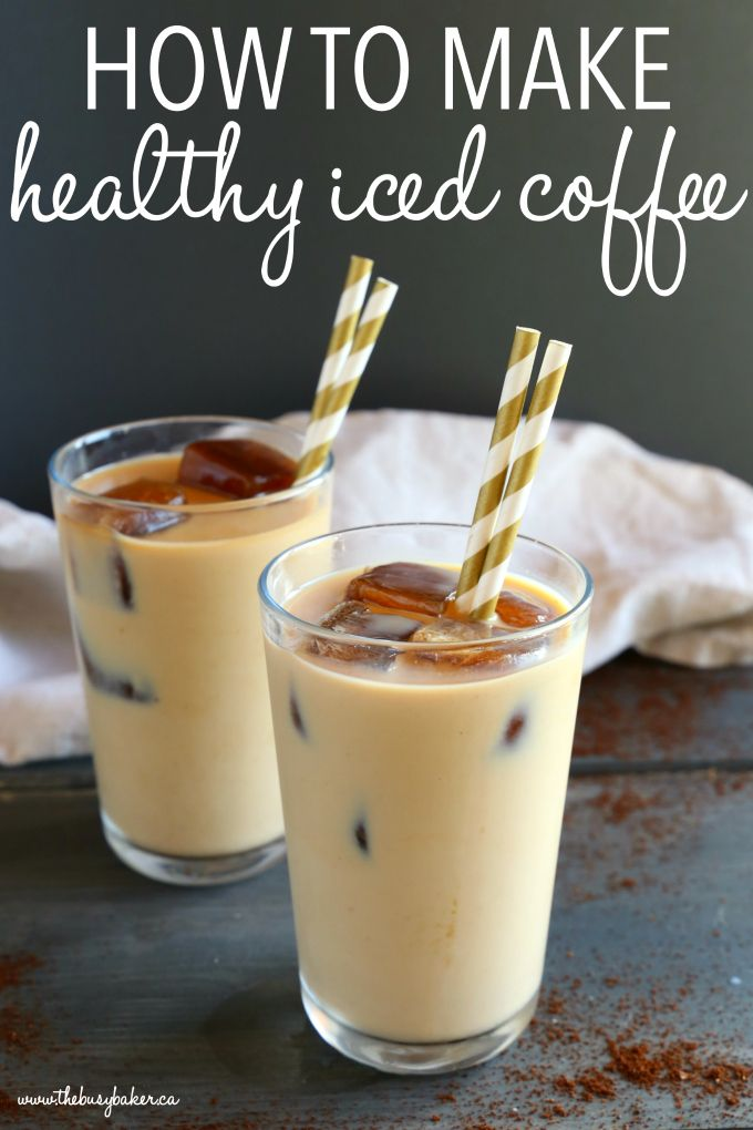 Healthy Iced Coffee Learn how to make Healthy Iced Coffee at home that's healthy, diet-friendly, and costs only pennies per cup! Skip the coffee shop to save calories and money! Recipe from !