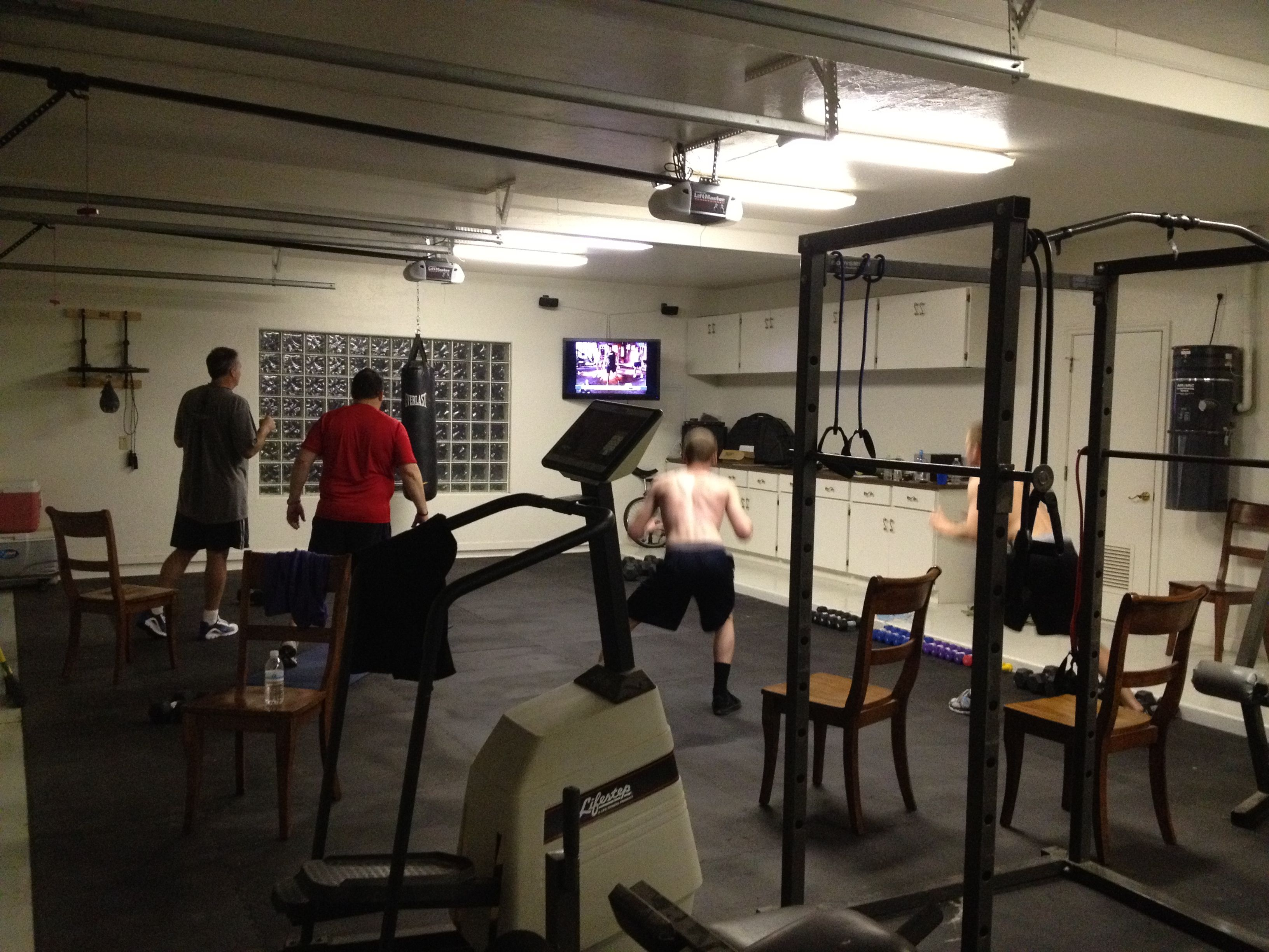 Working out in with p90x & insanity in the garage! healthy living