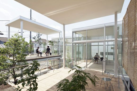 New approaches to apartment living in japan shakujii apartment by kazuyo sejima ryue nishizawa sanaa all glass walls and open terraces comprise this