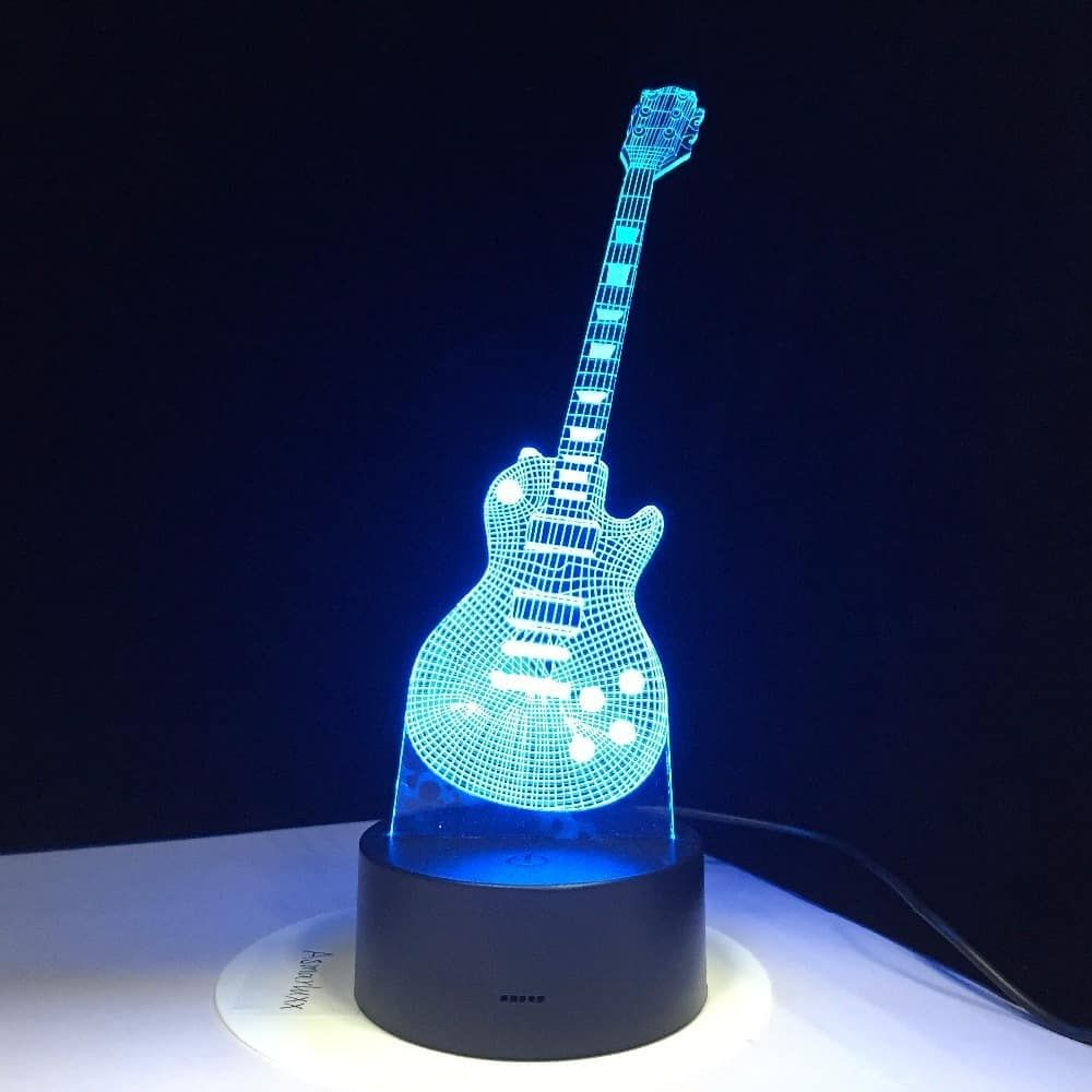 3d Electric Guitar Led Lamp In 2020 Lamp Led Night Lamp Usb Led Light Strip