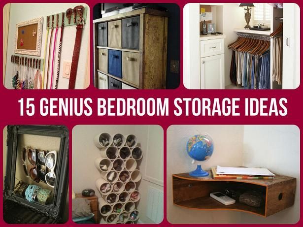 Brilliantly Clever Bedroom Storage Hacks | crafts | Bedroom ...