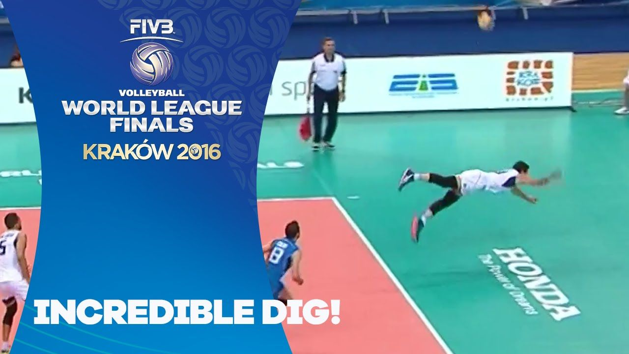 Incredible Dig Fivb World League The Incredibles Volleyball Skills Play Volleyball