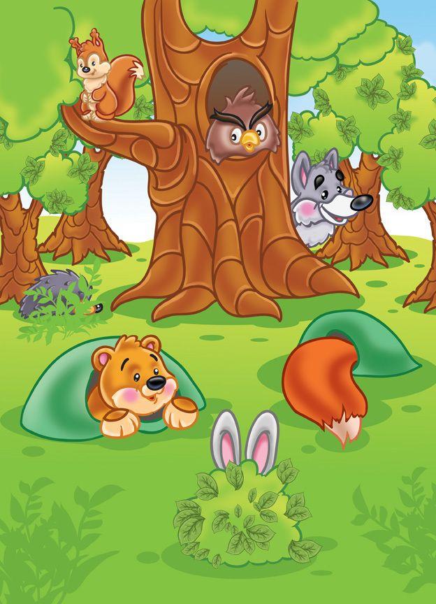 растения картинка кто спрятался за деревом размер изображения
