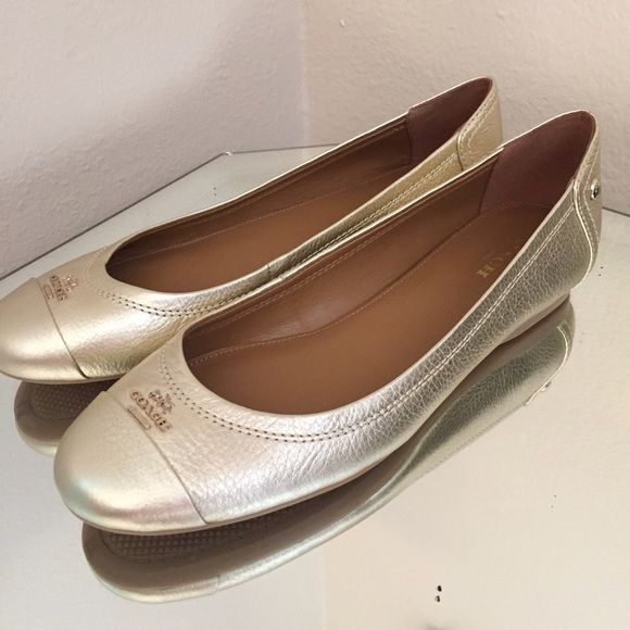 Gold Coach Flats New without box Coach Shoes Flats & Loafers