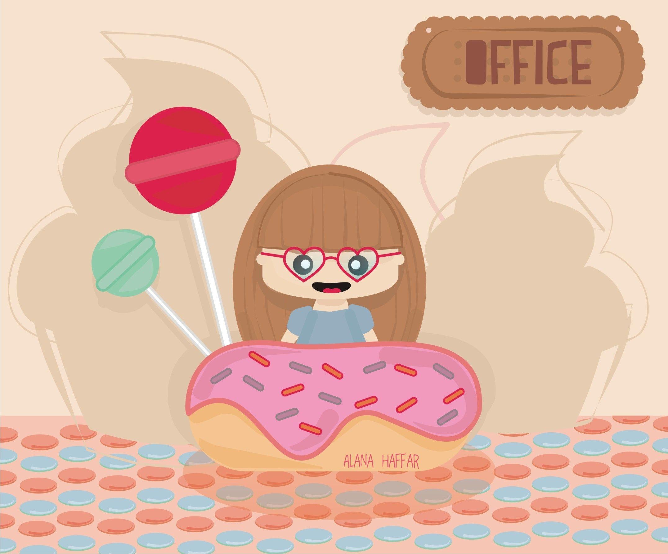 Una oficina de dulce, el trabajo ideal!