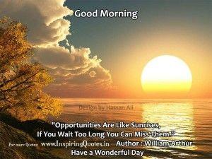 Good Morning Inspirational Quotes Good Morning Morning