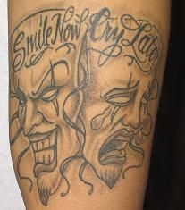 irish smile now cry later tattoo meaning - Google Search