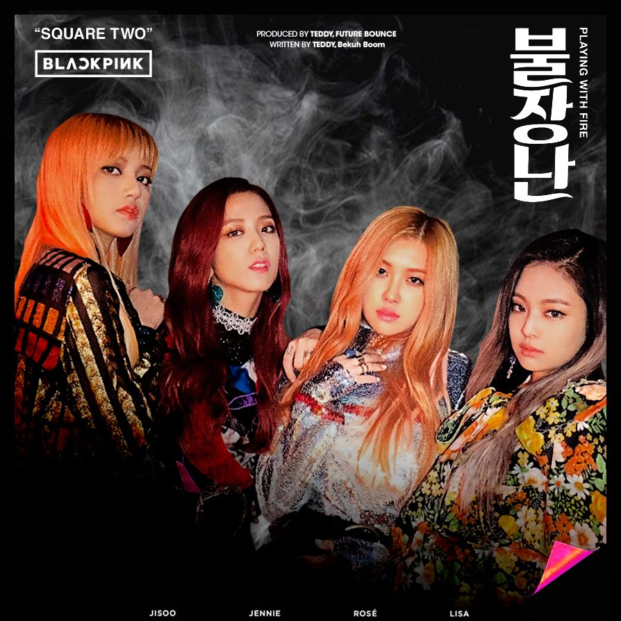 Blackpink Playing With Fire Album Cover By Minayeon1999