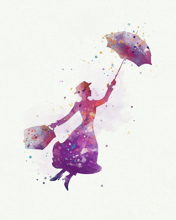 #disney #gift #homedecor #marypoppins #watercolor