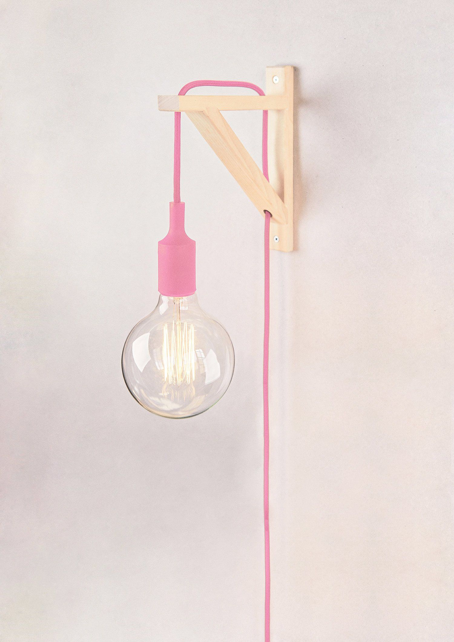Plug In Wall Sconce Bracket Sconce Plug In Wall Sconce Pink Cord Sconce In 2020 Plug In Wall Lights Plug In Wall Sconce Wall Lights