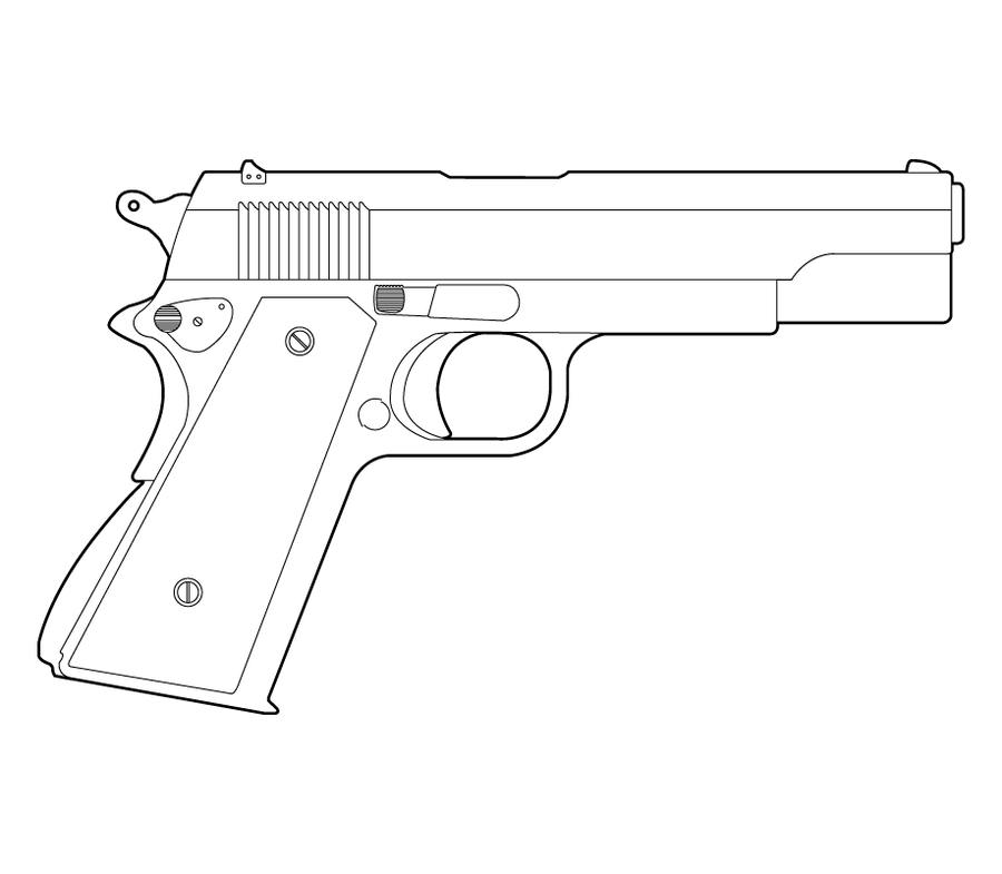 gun technical drawing
