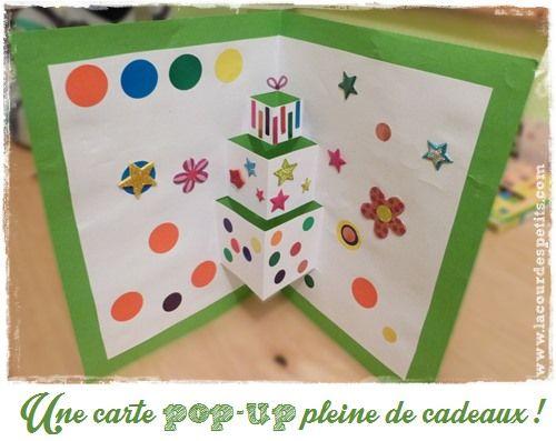 Une carte d 39 anniversaire faite maison version pop up - Carte de voeux maison ...