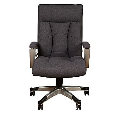 Sealy Posturepedic High Back Executive Chair Fabric Gray Seat