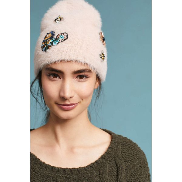 5778ac9f6fd Anthropologie Well-Embellished Beanie ( 48) ❤ liked on Polyvore featuring  accessories